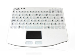 Accuratus AccuMed 540 RF - RF 2.4GHz Wireless & Rechargeable Mini Sealed IP67 Antibacterial Medical Keyboard with Touchpad