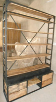 Industrial Vitnage Book Case with Ladder