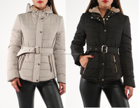 coats with hood and belts fro wholesale