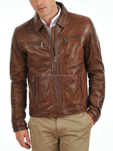 New fashion man skull leather jacket