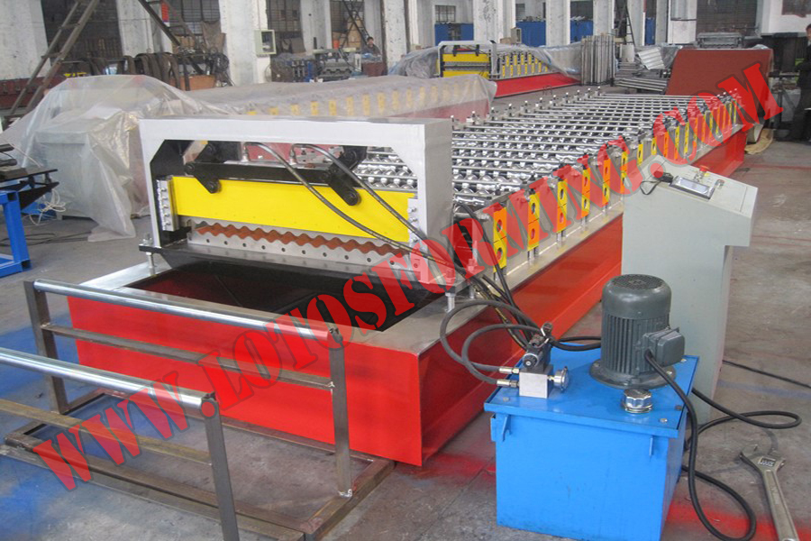 Small Corrugated Panel Roll Forming Machine