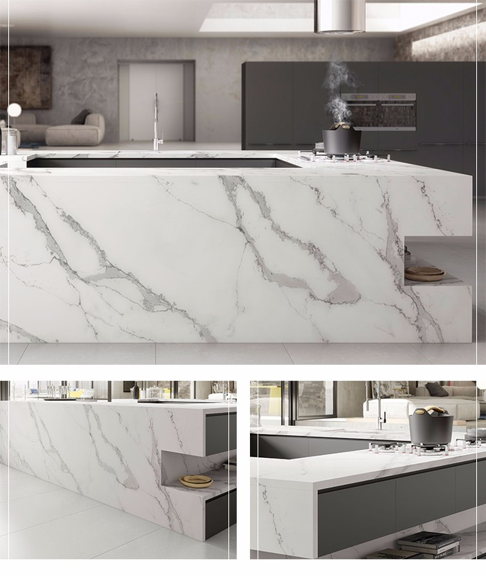 Customized Factory price Luxury white calacatta Italian marble