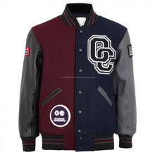 Custom 100% cotton Navy White Varsity Baseball Jacket