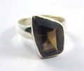Natural Faceted smoky quartz ring sterling silver ring small to big all size
