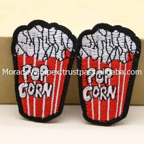 Pop Corn Embroidery Patches High quality Custom Patches Sew on Backing MIEP- 786340