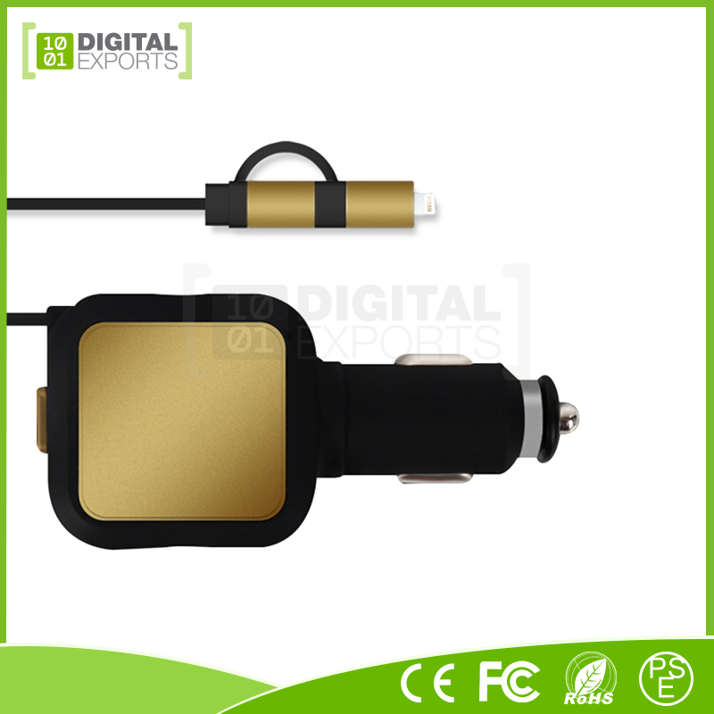 Digital Exports custom rohs car usb charger car adapter with low price