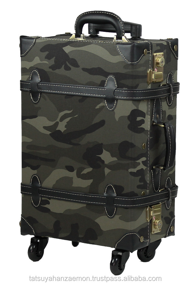 camouflage carry on luggage trolley bag TSA lock classical suitcase style with wheels travel bag suitcase bags & cases