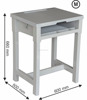 student desk ( Medium Size ) ABS, PP-BC