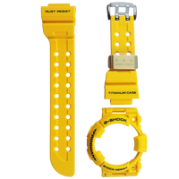 Casio G-Shock GWF-T1030E-9 Watch Band and Bezel Resin Yellow Color Authentic