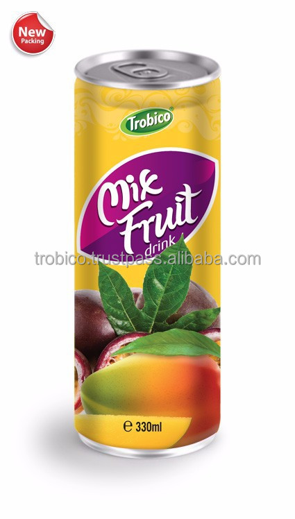 330ml Slim Can Private label Mixed Fruit Juice Drink from Vietnam