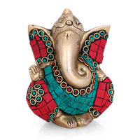 Jolly Ganesh Idol Brass Handicrafts Statue Indian Lord God Success Elephant Ganesha Sculpture