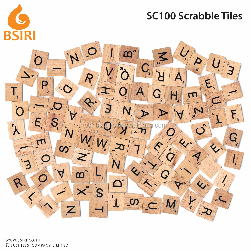 Wooden Mini Scrabble Tiles For Crafts 100 letters