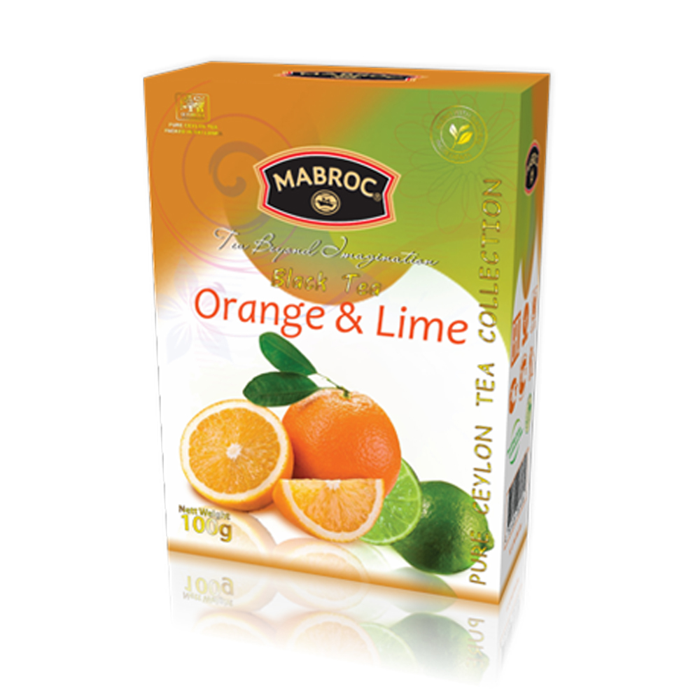 Mabroc 100g Black Tea with Orange & Lime Loose Tea Carton