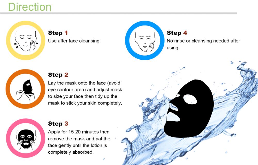 BRAPHY noir masque facial taiwan masque pour beauté soins de la peau