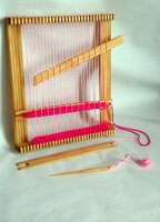 Weaving Loom Kits 12x15 Inch Weaving Lap Loom Kit Natural wood
