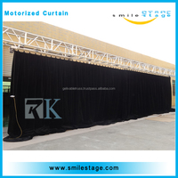 Adjustable aluminum pipe black stage background curtains