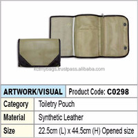 toiletry pouch / cosmetic pouch (beige & brown)
