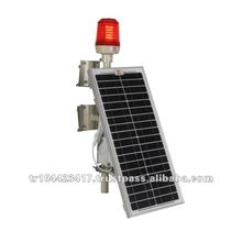 Solar Powered LED Aviation Obstruction Light/ ICAO FAA Type B L810/ Solar aircraft warning lights with photocell