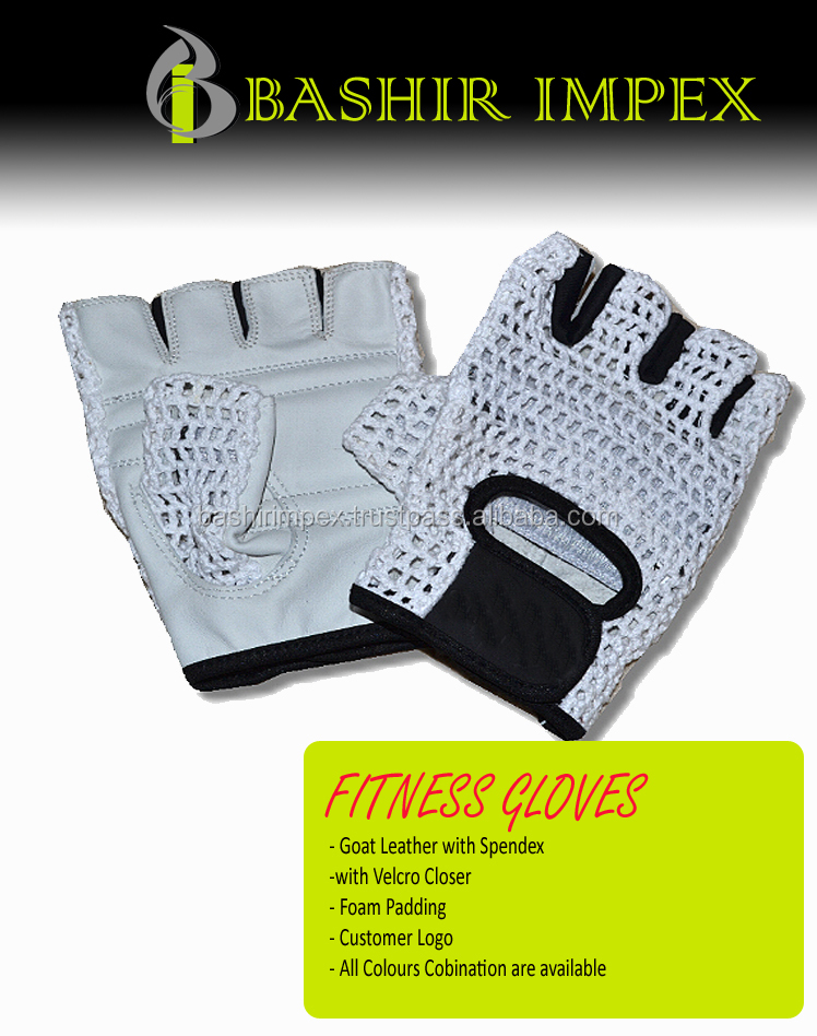 WOMEN BODYBUILDING FITNESS GLOVES KNITED BACK, WORKOUT GLOVES, LEATHER GLOVES