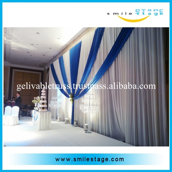 customize event drapery with aluminum pipe roof design backdrop tent