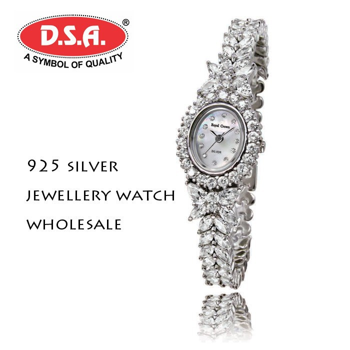 925 sliver Sterling watch ladies fancy jewellery watch