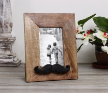 Handmade Wooden Moustache Photo Picture Frame Home Decor Accessories