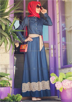 Half Button Collared Jubah Dress with Ribbon (Including Shawl)