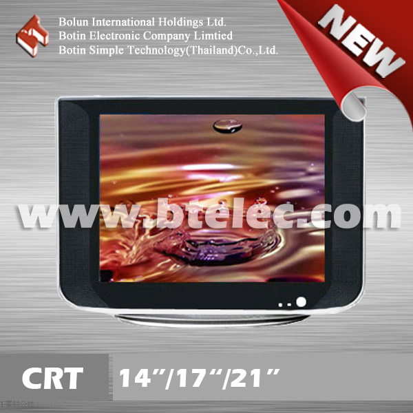 "New design 14"" crt tv bathroom small size television"