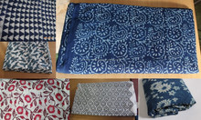 Indian Hand Printed Cotton Running Fabric Ladies Garments Fabric Wholesaler Manufacturer Sanganeri Hand Block Printed Fabric