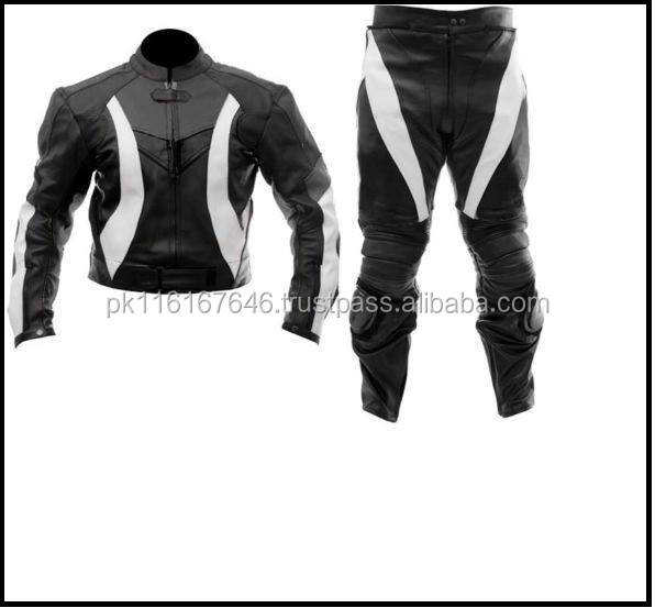 LEATHER MOTOR BIKE RACING TWO PIECE SUIT 6 COLOUR ARTICLE AVAILABLE