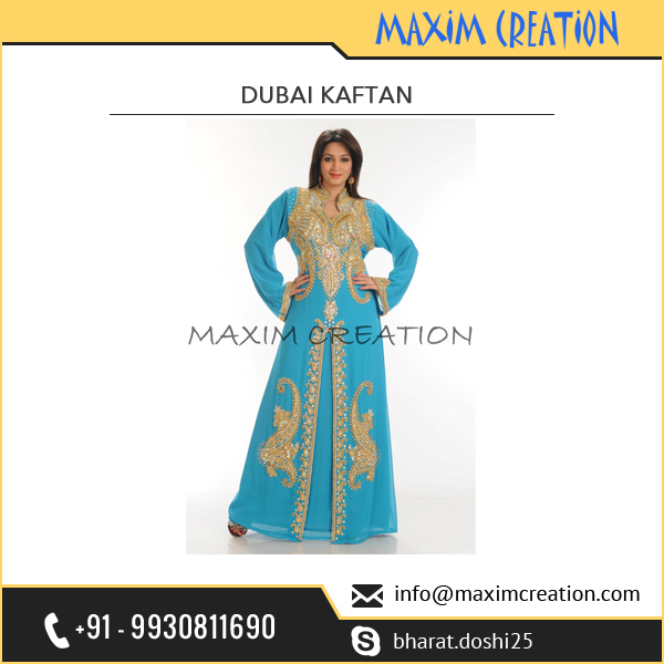 Fashionable Hand Embroidery Dubai Kaftan from from Biggest Kaftan Industry