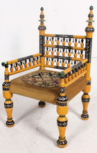 Antique Hand-painted Punjabi Wedding Chair Indian Wedding Chair Asian Wedding Furniture