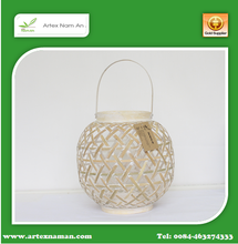 Fashion useful fancy bamboo Lantern / Handmade bamboo candle holder in Viet nam