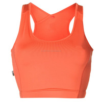 optimum stndard support Running Bra crop top with built in breathable mesh panels