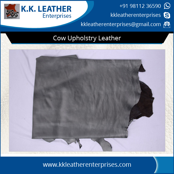 Smooth and Precisely Finished Cow Upholstery Leather for Multipurpose Use