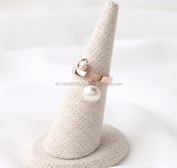 MINS pearl new style korean drama fashion ring