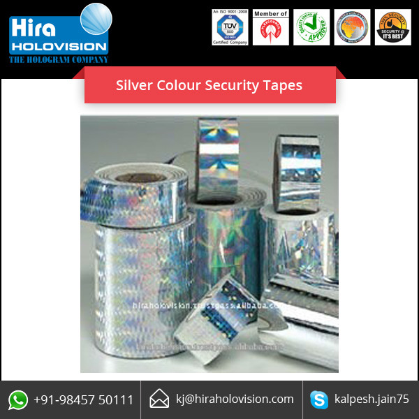 High Wear and Tear Strength Silver Security Holographic Labels and Tapes
