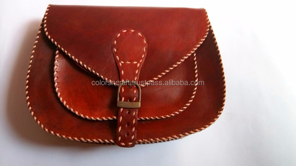 Wholesale Vintage Leather messenger Bag Women's Handbag Genuine Leather shoulder Handbag