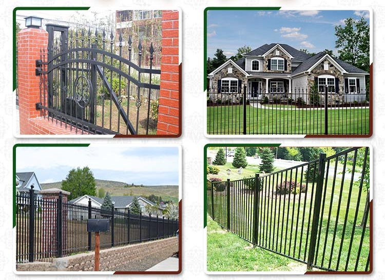 cheap wrought iron fence panels for sale wrought iron palisade fencing view wrought iron fence. Black Bedroom Furniture Sets. Home Design Ideas