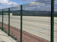 4,5 mm Wire Thick 50x150 mm HDG + EPP Welded Wire Panel Fence