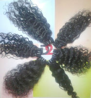 Indian kinky curly clip in hair extensions black women