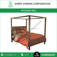 Luxurious Stylish and Elegant 4 Poster Bed,Wooden Furniture at Cheap Price