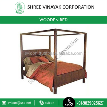 Luxurious Stylish And Elegant 4 Poster Bed Wooden