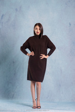 100% Mongolian Cashmere long sleeve dress