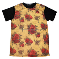 Half sleeve light weight all over sublimation printing t shirt