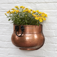 copper plated indoor wall hanging planters