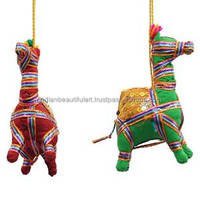 Traditional Indian Handmade Camel Wall Hanging Home Decor Craft Toran 1 Pair WH164A
