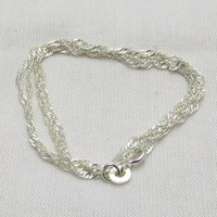 Beautiful !! Medium Gauge Box Plain Silver 925 Sterling Silver Chain, Indian Fashion Silver Jewellery, Sterling Silver Jewellery