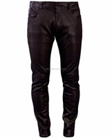 Wholesale classic dress mens gay black leather pants