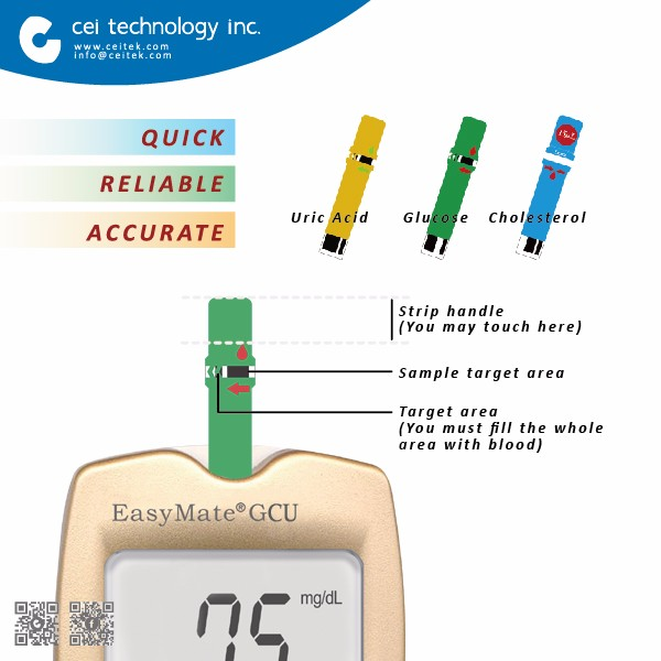Hot Sale Bluetooth 3 in 1 Blood glucose meter & Cholesterol and Uric acid / Hemoglobin meter testing equipment